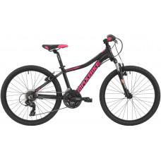 Maxbike Pindos 24 / čierny matný + ružovo a šedá