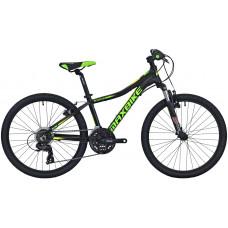 Maxbike Pindos 24 / čierny matný + zelená a žltá